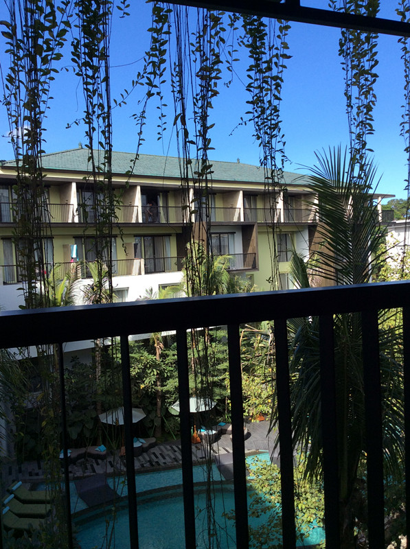 view from balcony at mercure legian