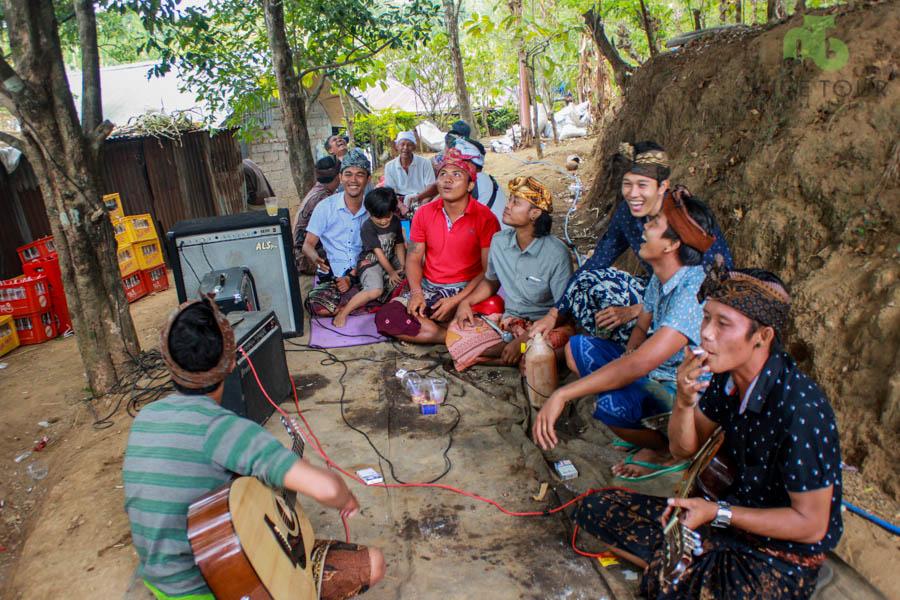 Balinese Wedding Ceremony in village