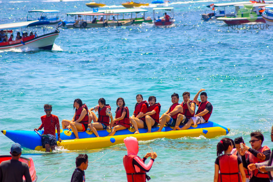 Banana Boat at Tanjung Benoa Beach