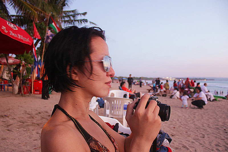 Surfing in Kuta Beach at Bali