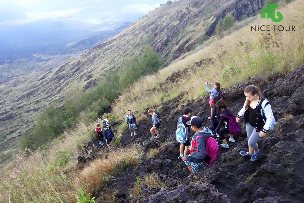 Trek Route To Finish Point of Mount Batur