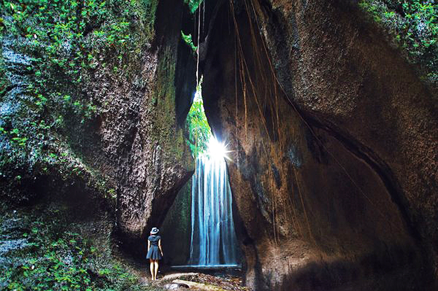 Tukad Cepung Waterfall in Bangli