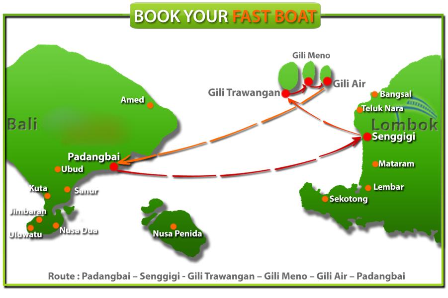 [Hot Deals] Fast boat Bali Lombok/Gili Trawangan | USD28/way, USD48 returns
