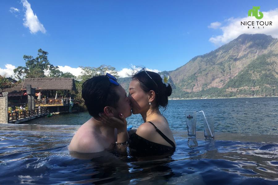 Couple at Bali Natural Springs Pool
